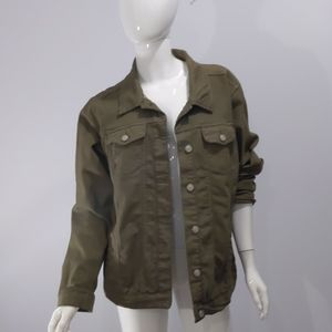 New look army green denim jacket sz 2x
